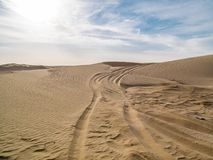 Sand dune of Sahara desert in Tunisia Royalty Free Stock Photography