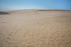 Sand dune scenery on baltic sea. Slowinsky national park royalty free stock photo