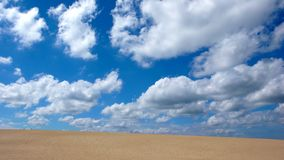 Sand dune and sky Stock Photography