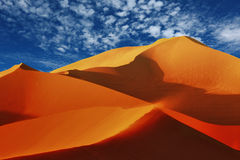 Sand Dune in Sossusvlei. Beautiful colors and contrasts including sand drift in the sea of sand dunes in Sossusvlei, Namibia stock photography