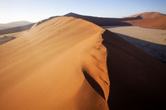 A sand dune Sossusvlei, Namibia Royalty Free Stock Photography