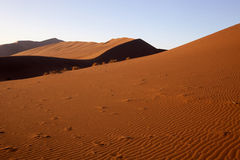A sand dune Sossusvlei, Namibia Stock Photography
