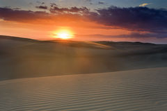 Sand Dune Sun Pink Over Royalty Free Stock Photography