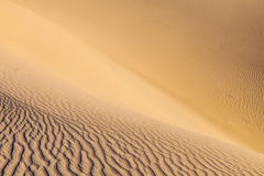 Sand dune in sunrise in the desert Stock Photo