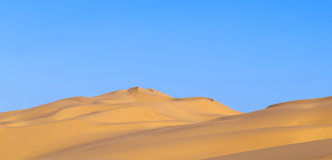 Sand dune in sunrise in the desert Royalty Free Stock Photography