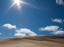 Sand dune in sunshine Royalty Free Stock Photo