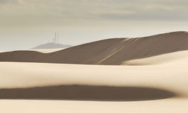 Sand DUne Tele Antennae Hill Royalty Free Stock Image