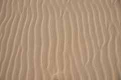 Waves of sand close up photo Royalty Free Stock Photo
