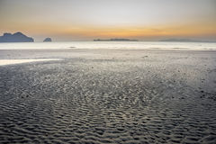 Sand dune. Twilight sunset at the sand dune beach Royalty Free Stock Photography