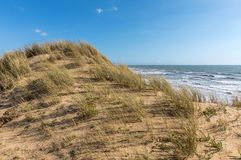 Sand dune under the wind. On the west coast of France Olonne sur Mer, Vendee Royalty Free Stock Image