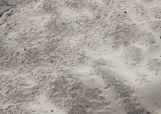 Sand Dune with Unstructured Footprints in Perspective Royalty Free Stock Photos