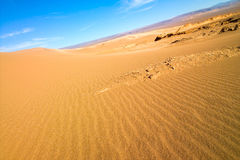 Sand dune at Valle de la Luna Stock Photography