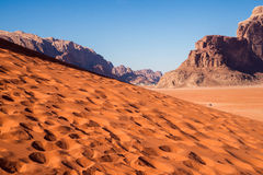 Sand dune in Wadi Rum Royalty Free Stock Photo
