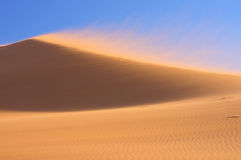 Sand Dune in Wind. A sand dune in strong wind at sundown royalty free stock images