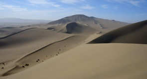 Sand Dunes. A calm morning in the desert Gobi, China royalty free stock photo
