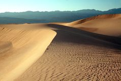 SAND DUNES. Of Death valley Stock Image