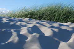 Sand Dunes. With blue sky Stock Images