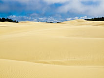 Sand dunes. Giant sand dunes with deep blue sky Royalty Free Stock Photography