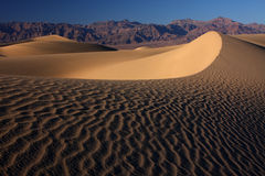 Sand dunes. Desert dunes with sunset casting long shadows in the sand (Death Valley National Park, California, USA Royalty Free Stock Photography