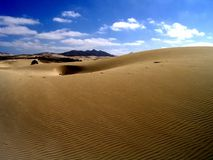 Sand dunes. Sand Dune in Cabo Verde, Africa Royalty Free Stock Image