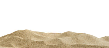 Sand dunes. Isolated on white background Stock Images