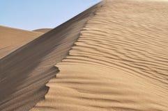 Sand dunes. Ridge and ripples in rolling sand dunes in desert Stock Photo