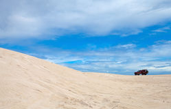 Sand dunes. Adventure in sand dunes, Lancelin, Western Australia Stock Photos