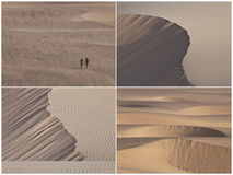 Sand Dunes. Collage with Four Different Image of Sand Dunes Royalty Free Stock Photos