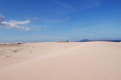 Sand dunes. Sand  dunes of  Corralejo, Fuerteventura Royalty Free Stock Photography