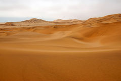 Sand dunes. In namibia south Africa Royalty Free Stock Image