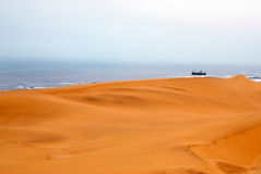 Sand dunes. Off coast of Namibia in Africa Stock Image