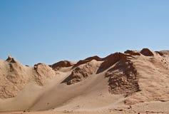 Sand Dunes. Landscape of sand dunes under a clear blue sky Stock Image