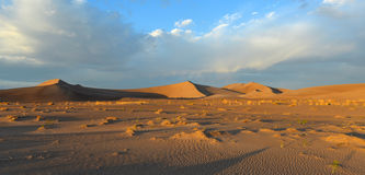 Sand Dunes along the Amargosa Desert at sunset Royalty Free Stock Photography