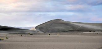 Sand Dunes along the Amargosa Desert at sunset Royalty Free Stock Photos