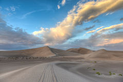 Sand Dunes along the Amargosa Desert at sunset Royalty Free Stock Image