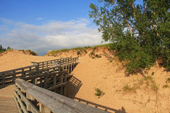 Sand Dunes Along Lake Michigan, USA Royalty Free Stock Image