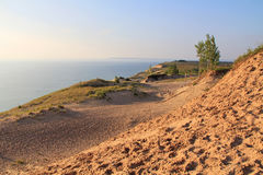 Sand Dunes Along Lake Michigan, USA Stock Photo