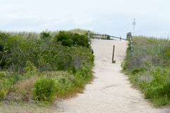 Sand dunes along the New Jersey shore in Wildwood Royalty Free Stock Photography