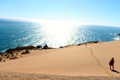 Sand dunes around  the Concon coastline Stock Images