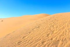 Sand dunes around  the Concon coastline Stock Image