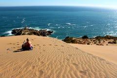 Sand dunes around  the Concon coastline Royalty Free Stock Image