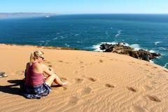 Sand dunes around  the Concon coastline Stock Photography