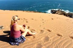 Sand dunes around  the Concon coastline Royalty Free Stock Images