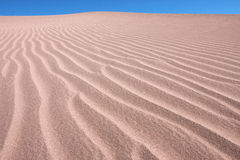 Sand dunes in atacama desert in chile Royalty Free Stock Images