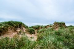 Sand dunes at Balnakeil Bay Stock Photography