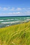 Sand dunes at beach Stock Image