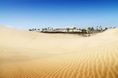 Sand dunes on the beach in Maspalomas. Stock Photography