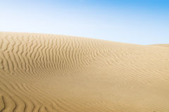 Sand dunes on the beach in Maspalomas. Royalty Free Stock Image