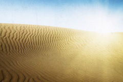 Sand dunes on the beach in Maspalomas. Royalty Free Stock Images