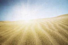 Sand dunes on the beach in Maspalomas. Stock Image